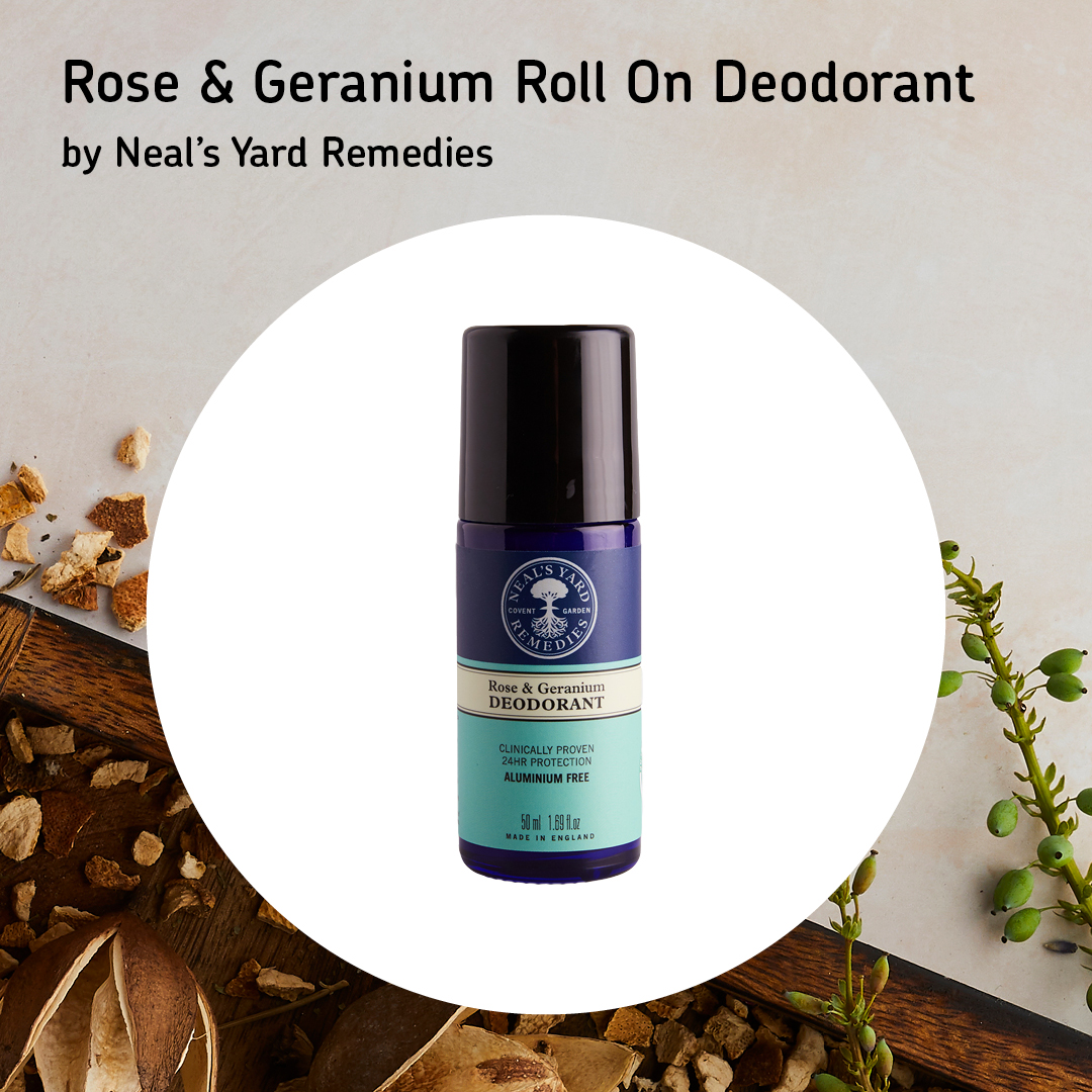Rose & Geranium Roll on Deodorant by Neal's Yard Remedies